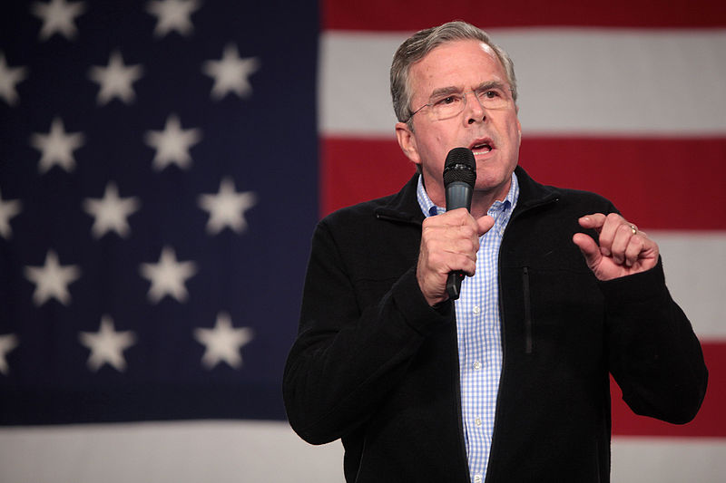 Photo of Jeb Bush at a public speaking event.