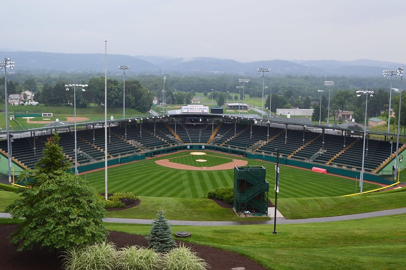 Photo of the Little League World Series field in Williamsport, Pennsylvania.