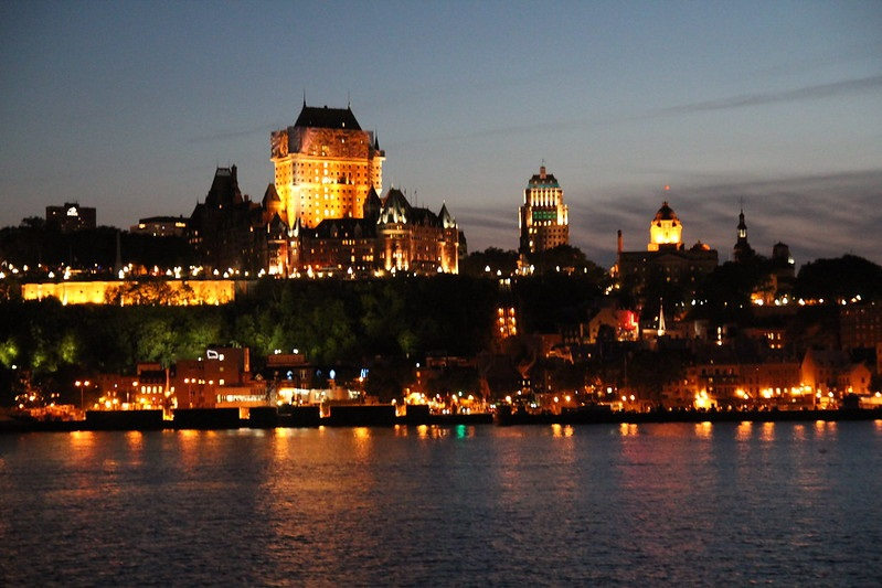 Photo of downtown Quebec City in Canada.