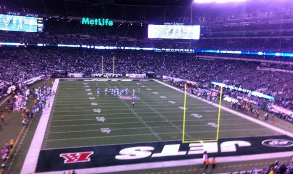 View of the field from the Mezzanine Level at Metlife Stadium