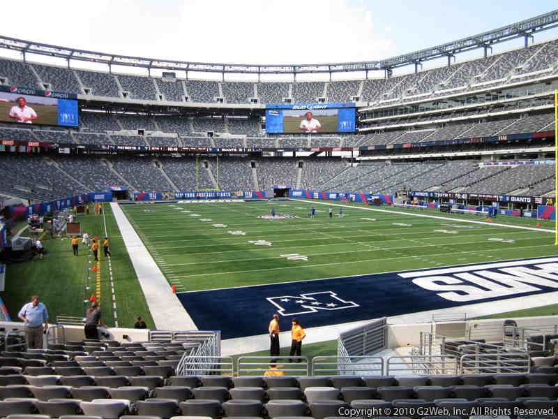 Seat view from section 129 at Metlife Stadium, home of the New York Jets