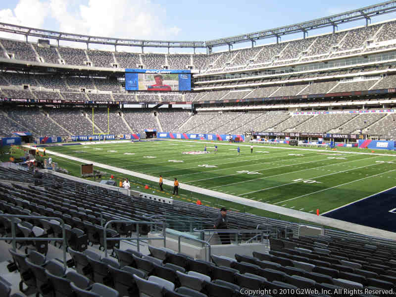 Seat view from section 133 at Metlife Stadium, home of the New York Jets
