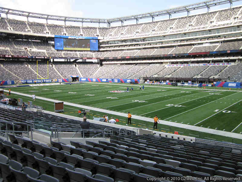 Seat view from section 134 at Metlife Stadium, home of the New York Jets