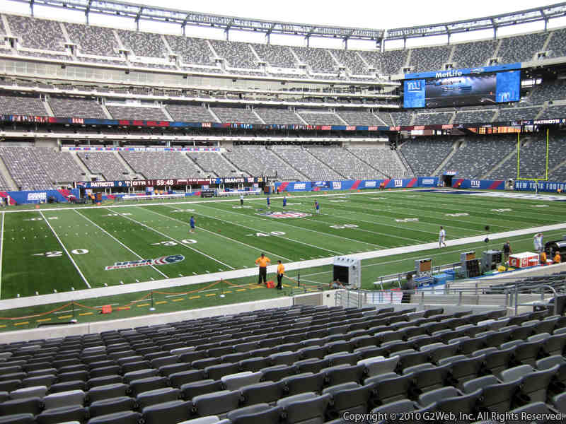 Seat view from section 142 at Metlife Stadium, home of the New York Jets