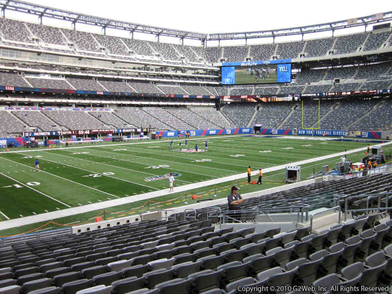 Seat view from section 143 at Metlife Stadium, home of the New York Jets