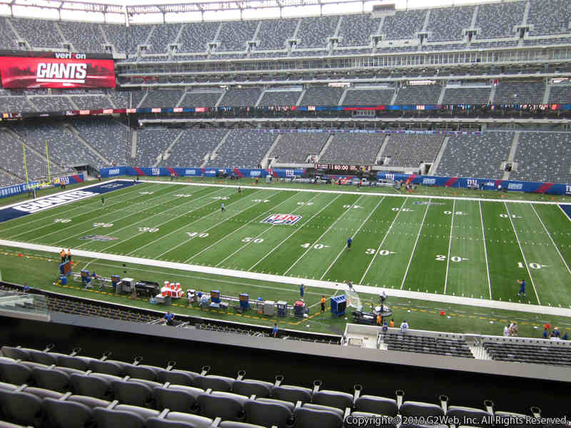 Seat view from section 211 at Metlife Stadium, home of the New York Jets