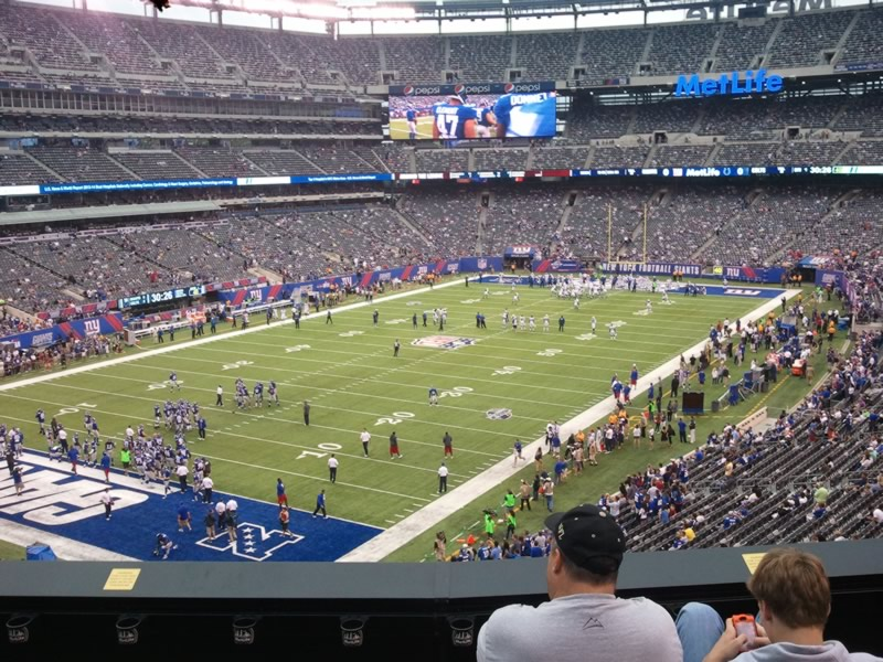 Seat view from section 221 at Metlife Stadium, home of the New York Jets