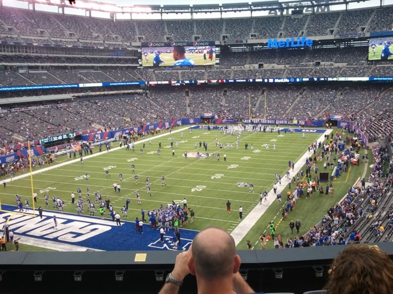 Seat view from section 222 at Metlife Stadium, home of the New York Jets