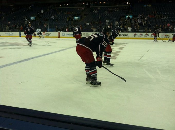 View from the Lexus Glass Seats at Nationwide Arena during a Columbus Blue Jackets game.