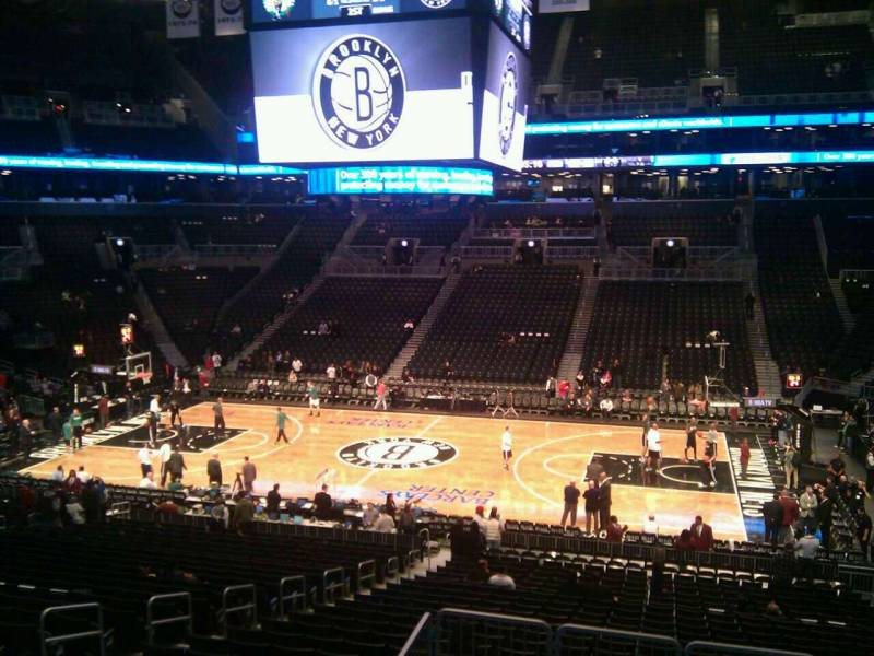 Seat view from Section 107 at the Barclays Center, home of the Brooklyn Nets