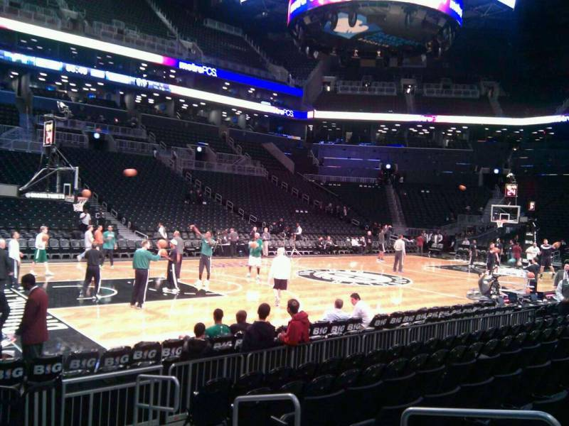 Seat view from Section 10 at the Barclays Center, home of the Brooklyn Nets
