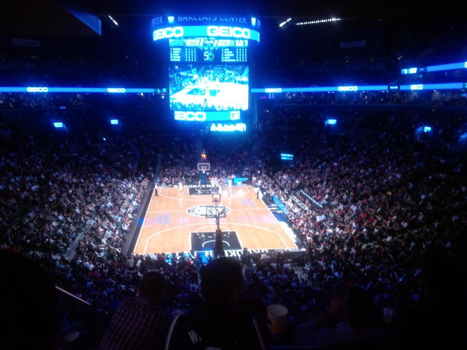 Seat view from Section 217 at the Barclays Center, home of the Brooklyn Nets