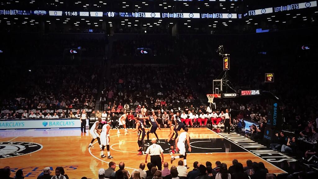 Seat view from Section 23 at the Barclays Center, home of the Brooklyn Nets