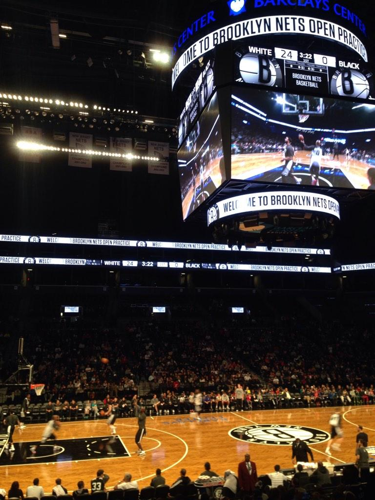 Seat view from Section 9 at the Barclays Center, home of the Brooklyn Nets
