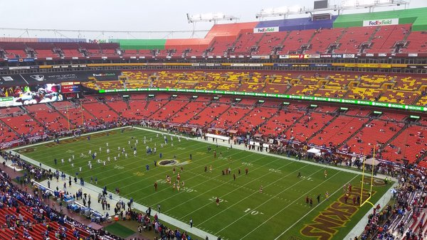 Photo of Fedex Field from the upper level. Home of the Washington Redskins.