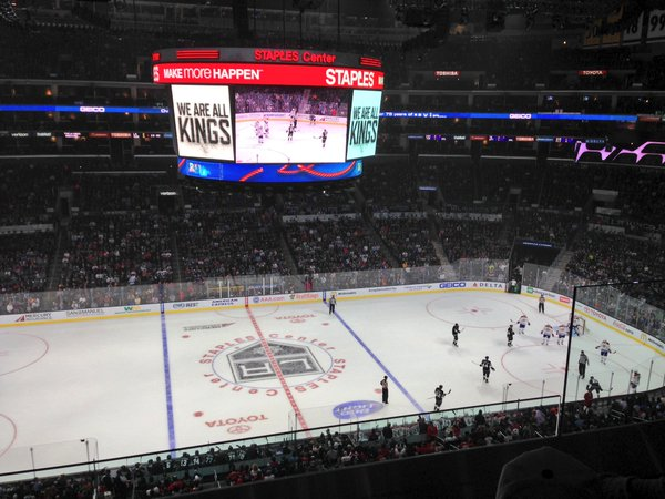 Photo of the ice at the Staples Center, home of the Los Angeles Kings.