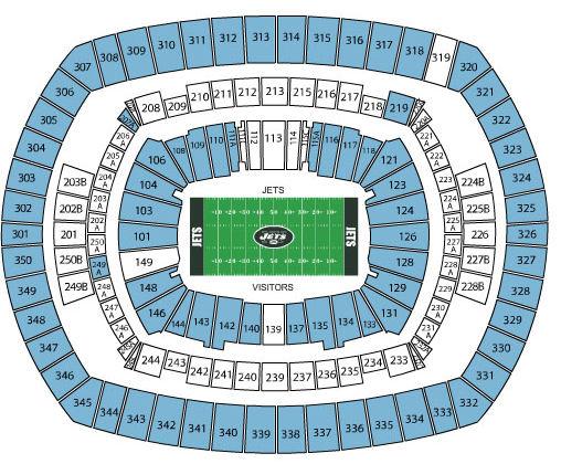 Breakdown Of The Metlife Stadium Seating Chart