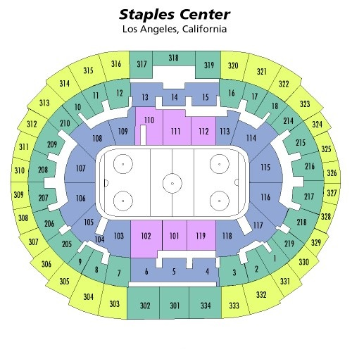 Staples Center Seating Chart, Los Angeles Kings