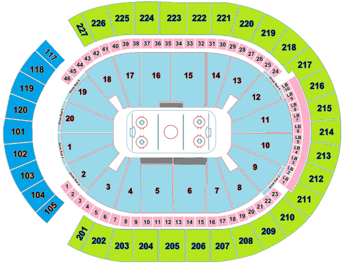 T-Mobile Arena Seating Chart, Vegas Golden Knights