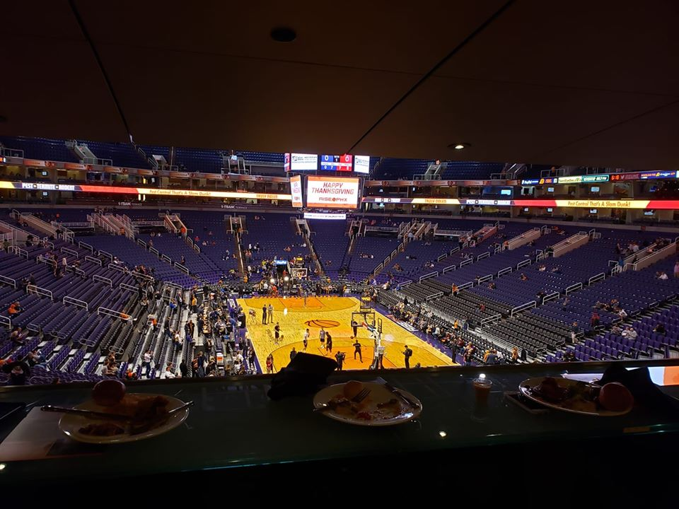 Photo taken from the Club Annexus Loge Box seats at Talking Stick Resort Arena during a Phoenix Suns home game.