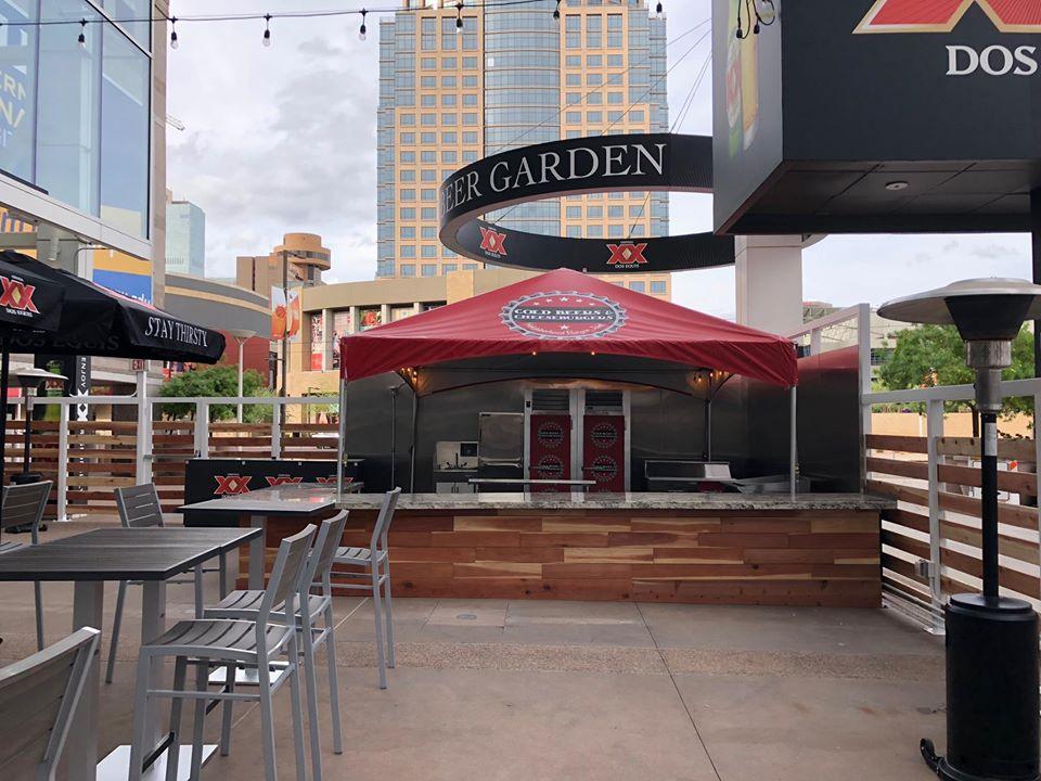 Photo of the Dos Equis Beer Garden at Talking Stick Resort Arena. Home of the Phoenix Suns.