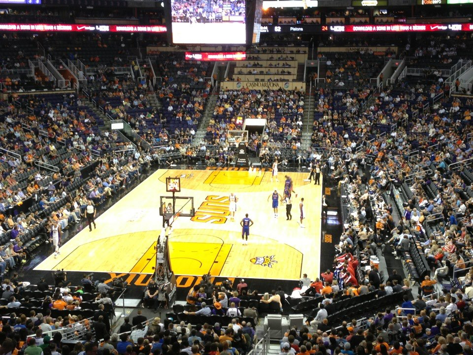 Photo taken from the Theater Box seats at Talking Stick Resort Arena during a Phoenix Suns home game.