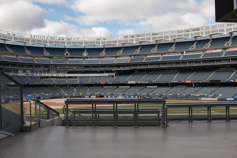 Photo taken from the center field area at Yankee Stadium. Home of the New York Yankees.
