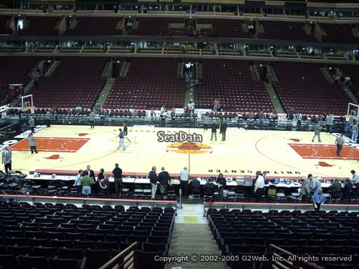 Seat view from section 101 at the United Center, home of the Chicago Bulls
