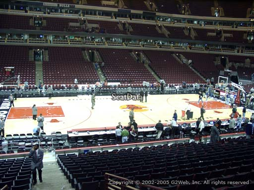 Seat view from section 102 at the United Center, home of the Chicago Bulls