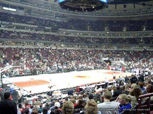 Seat view from section 103 at the United Center, home of the Chicago Bulls