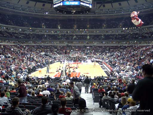 Seat view from section 106 at the United Center, home of the Chicago Bulls