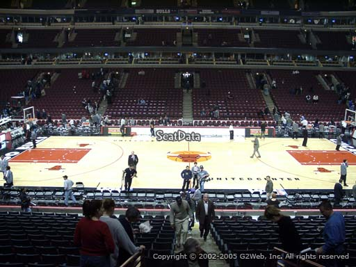 Seat view from section 111 at the United Center, home of the Chicago Bulls