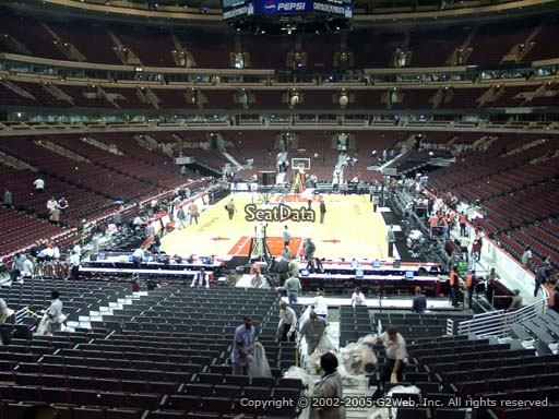 Seat view from section 117 at the United Center, home of the Chicago Bulls