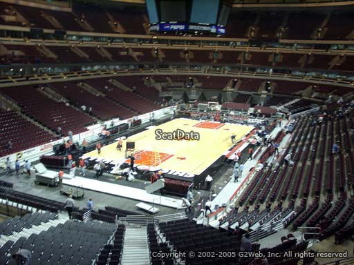 Seat view from section 206 at the United Center, home of the Chicago Bulls