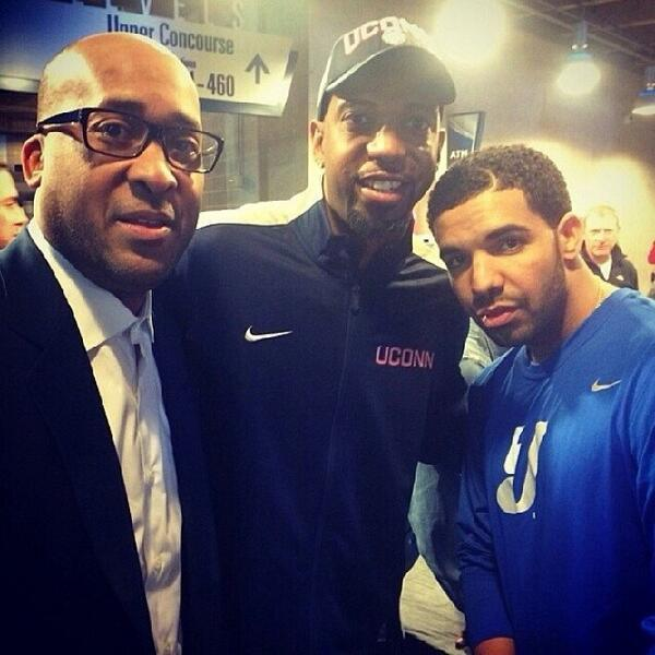 William Wesley with Richard Hamilton and rapper Drake