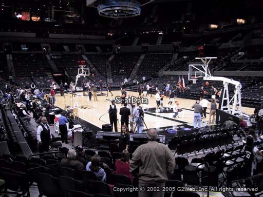 Seat view from Section 104A at the AT&T Center, home of the San Antonio Spurs