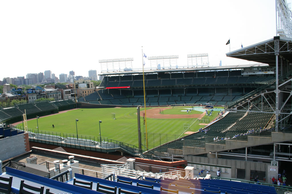 View of Wrigley Field from the Beyond the Ivy Rooftop - 1048 Waveland.