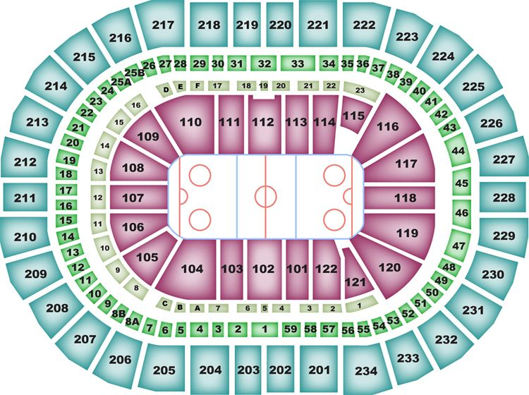 PPG Paints Arena Seating Chart, Pittsburgh Penguins.