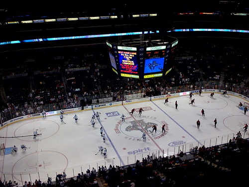 Photo of the ice at the BB&T Center, home of the Florida Panthers.