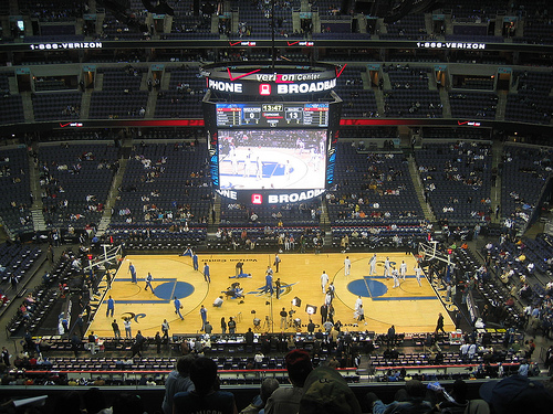View of the court at Capital One Arena, Home of the Washington Wizards