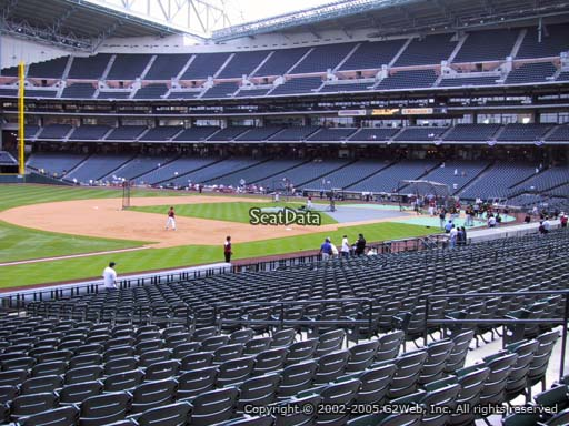 Seat view from section 109 at Minute Maid Park, home of the Houston Astros