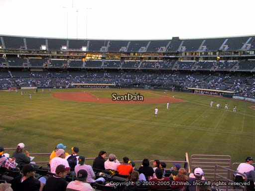 Seat view from section 137 at Oakland Coliseum, home of the Oakland Athletics