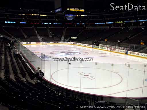 Seat view from section 118 at the Pepsi Center, home of the Colorado Avalanche