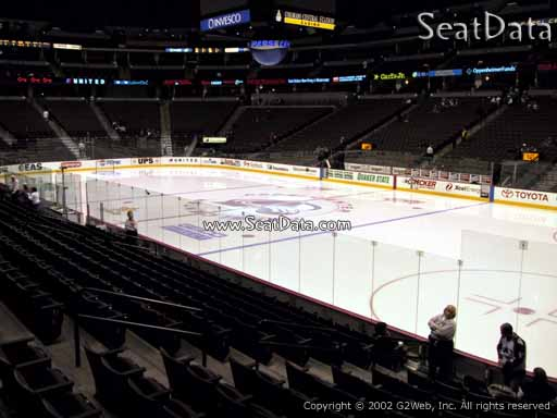 Seat view from section 120 at the Pepsi Center, home of the Colorado Avalanche