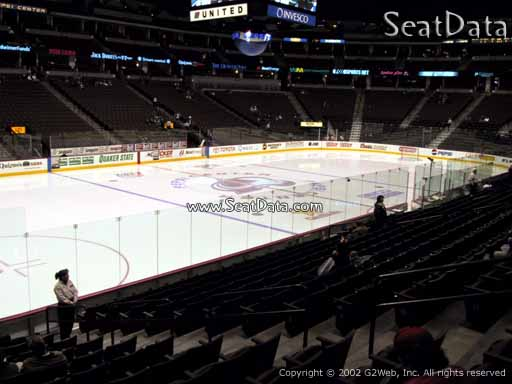 Seat view from section 130 at the Pepsi Center, home of the Colorado Avalanche