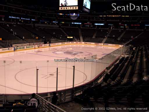 Seat view from section 132 at the Pepsi Center, home of the Colorado Avalanche