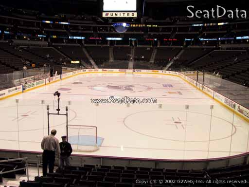 Seat view from section 136 at the Pepsi Center, home of the Colorado Avalanche