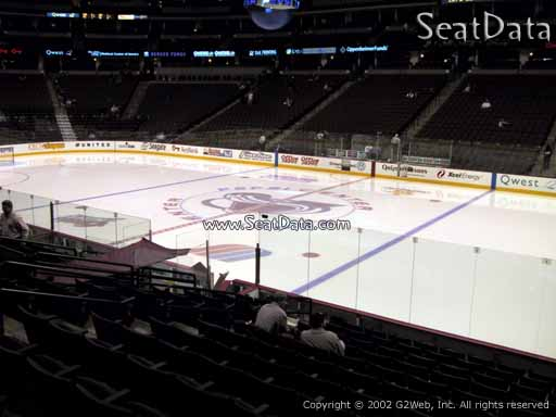 Seat view from section 146 at the Pepsi Center, home of the Colorado Avalanche