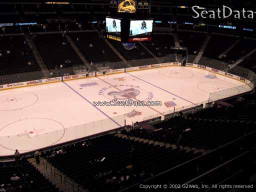 Seat view from section 206 at the Pepsi Center, home of the Colorado Avalanche