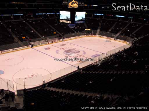 Seat view from section 238 at the Pepsi Center, home of the Colorado Avalanche